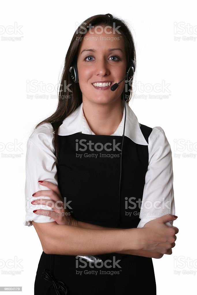 Call center operator royalty-free stock photo