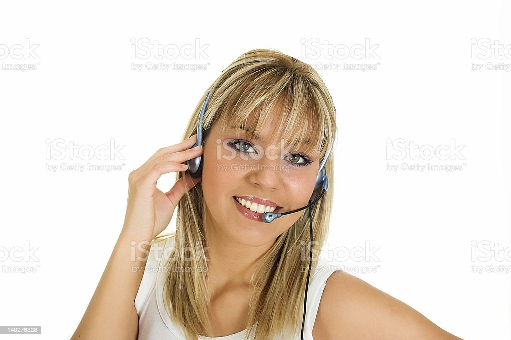 Call center royalty-free stock photo