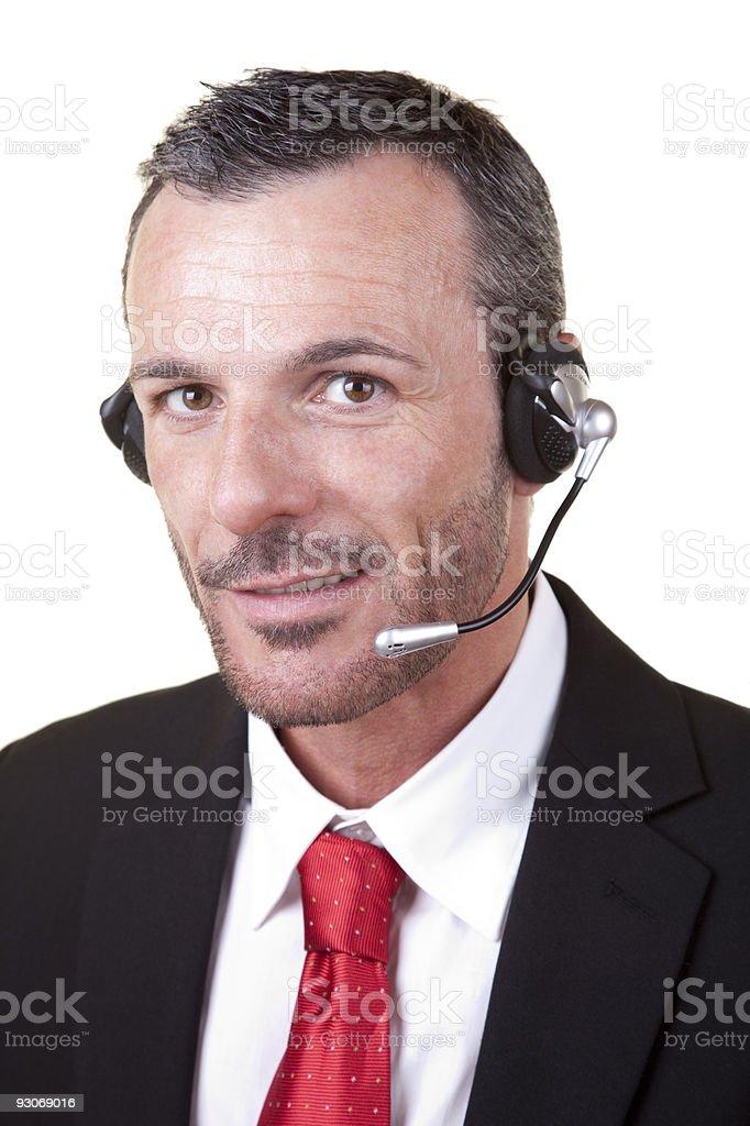 Call center representative man royalty-free stock photo
