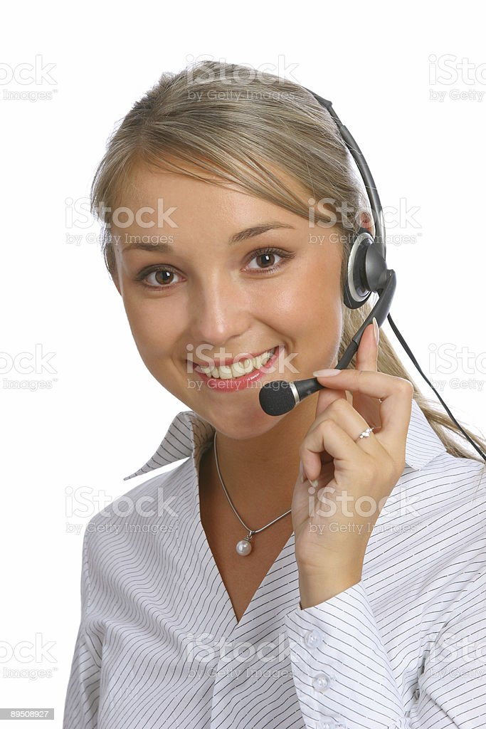 call center representative royalty-free stock photo