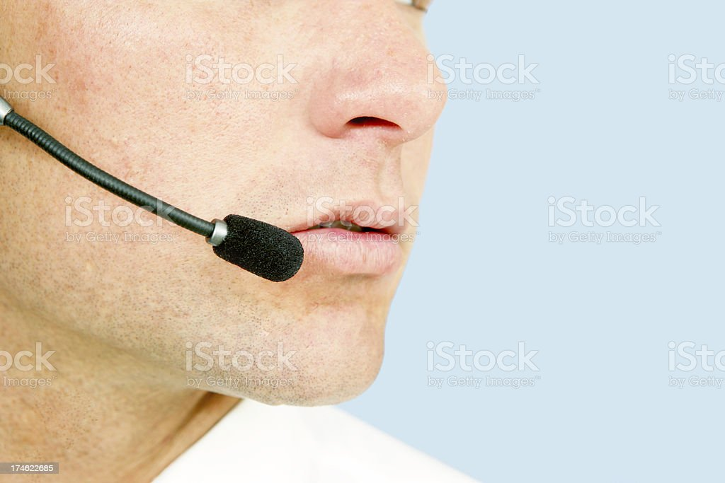 Call Center Staff royalty-free stock photo