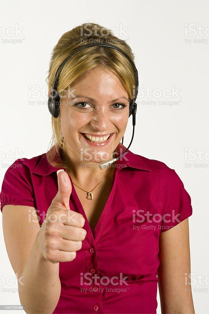 Call center success royalty-free stock photo