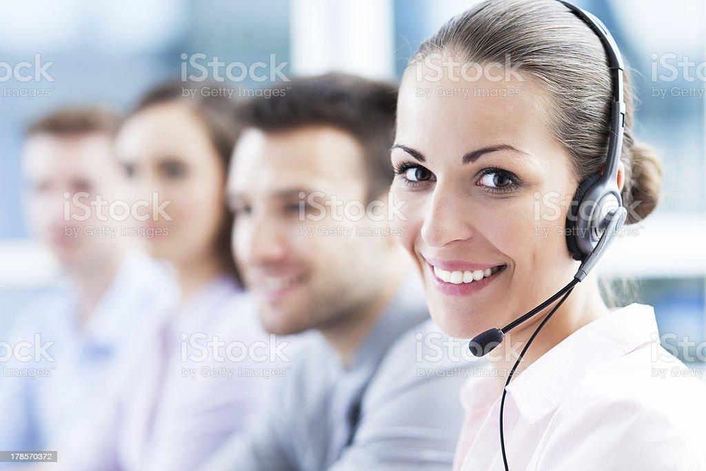 Squadra della call center - Foto stock royalty-free di Adulto