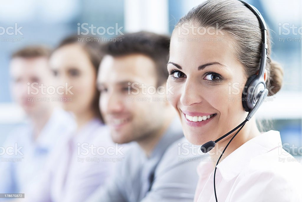 Call center team stock photo