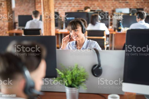 Call center worker accompanied by her team picture id890954530?b=1&k=6&m=890954530&s=612x612&h=nzhifr2z3q9 fgtzsrloo4gqnpoukasyjkokk8uwlru=