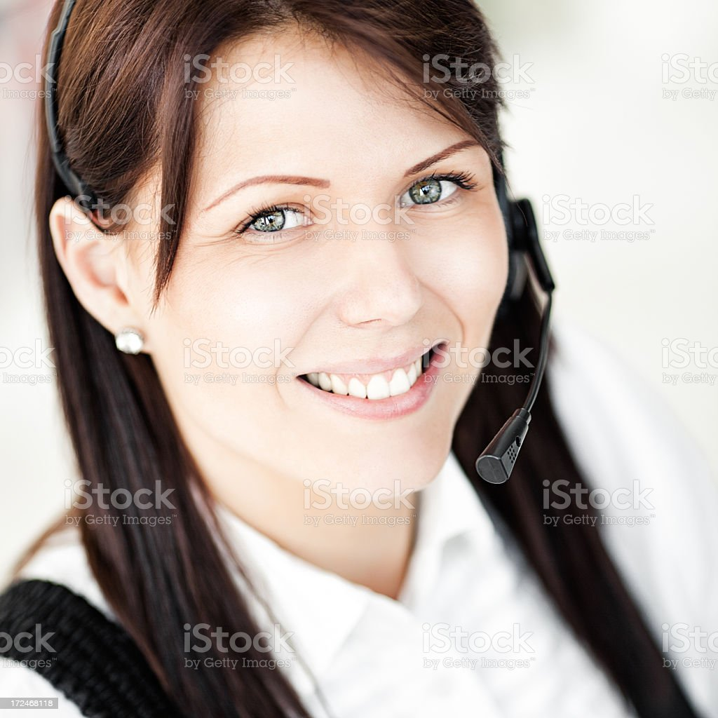 Call Center Worker royalty-free stock photo