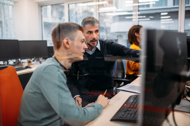 Call Center Workers stock photo