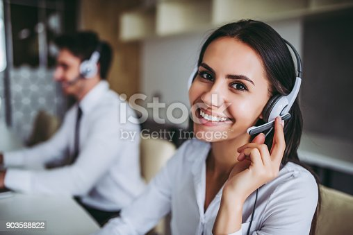istock Call center workers. 903568822