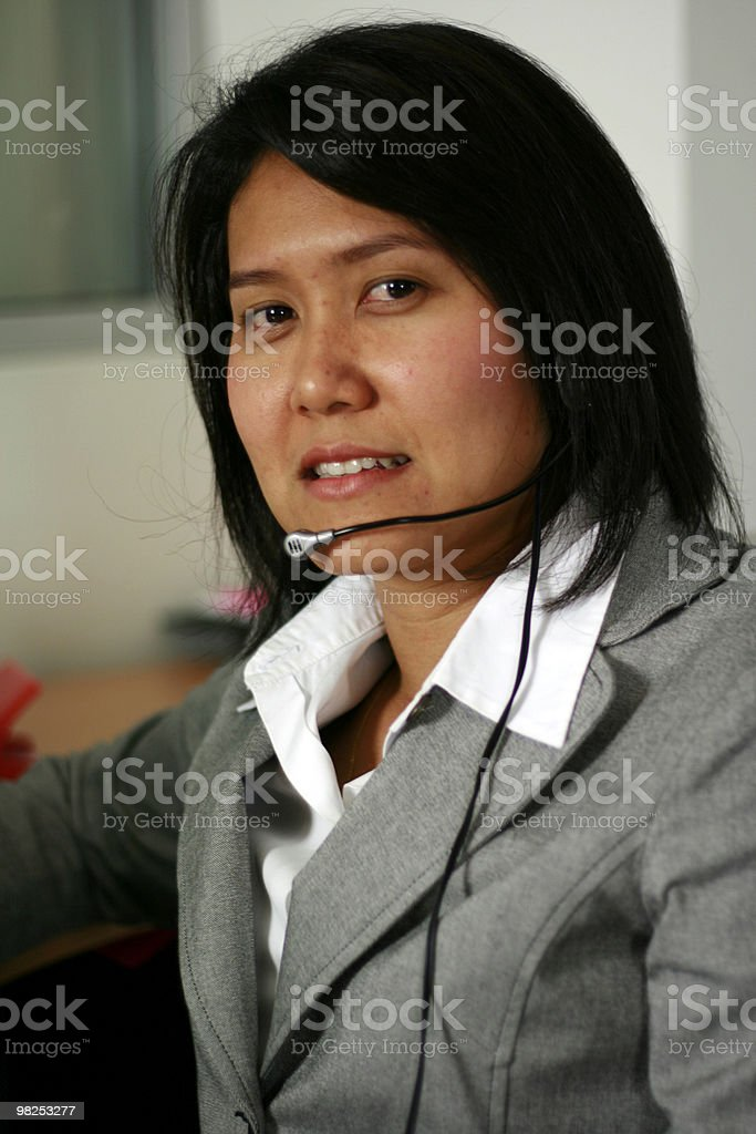 Call Center Asia foto stock royalty-free