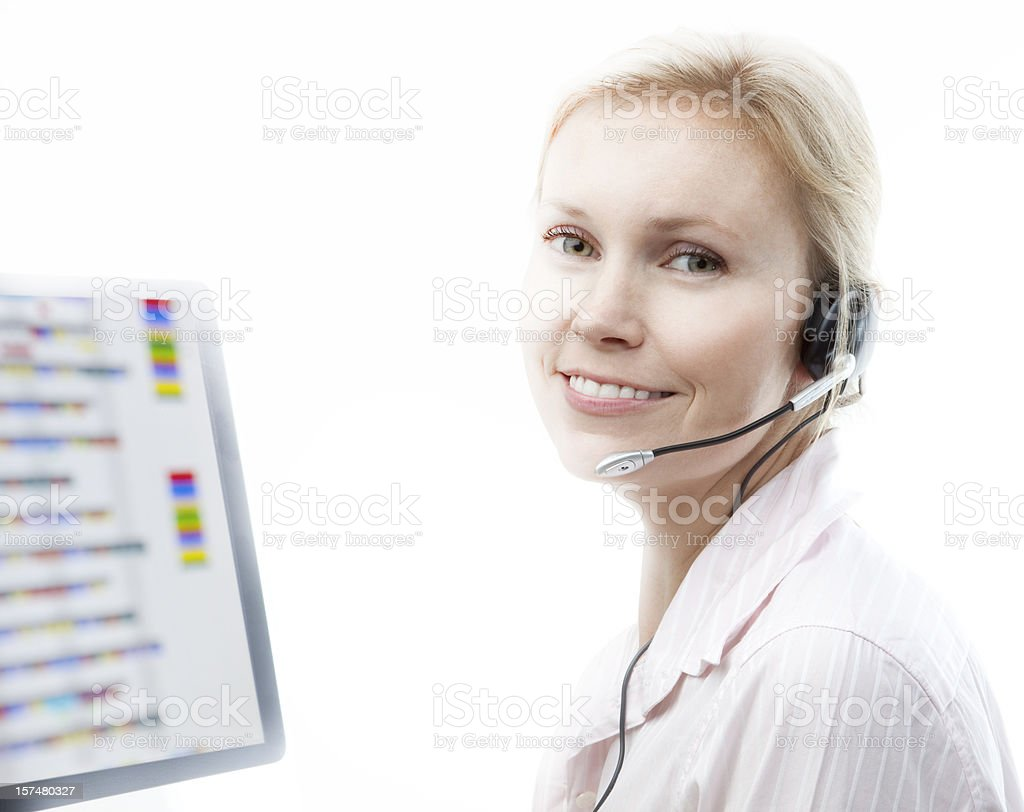 Call centre royalty-free stock photo