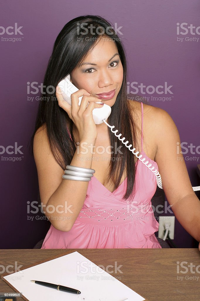 Call her royalty-free stock photo