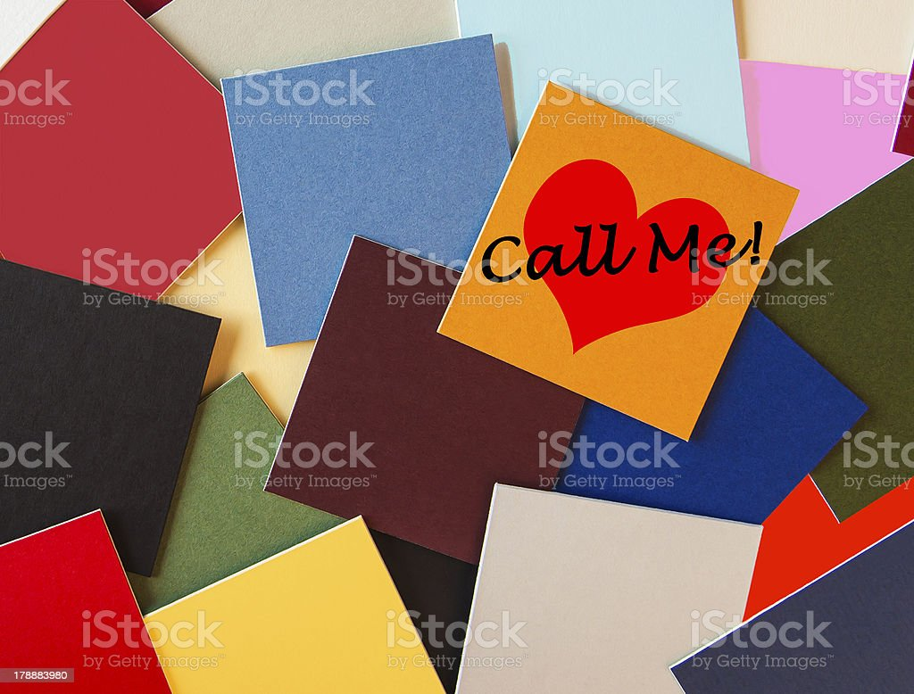 Call Me - I Love You! royalty-free stock photo
