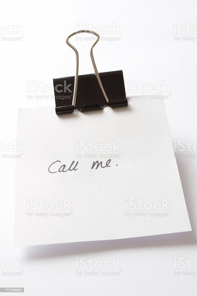 Call me! royalty-free stock photo