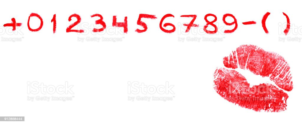 Call me! (make your own phone number from a set) stock photo