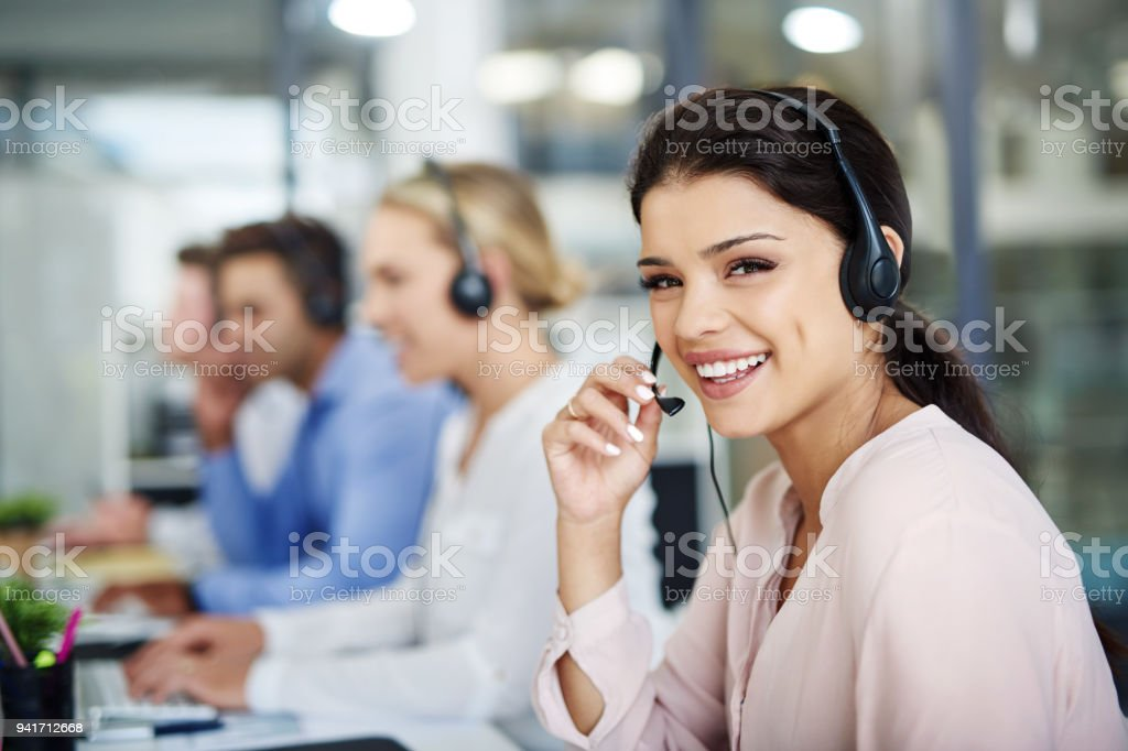 Call our contact centre and find out more stock photo