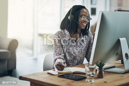 istock Call the expert. She knows what she's talking about 854972764