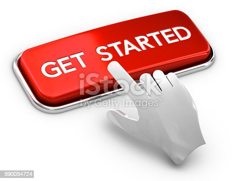 istock Call to Action Button, Get Started 590054724