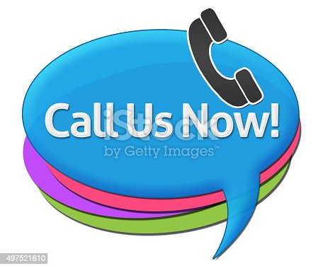 istock Call Us Now Colorful Comment Symbols 497521610
