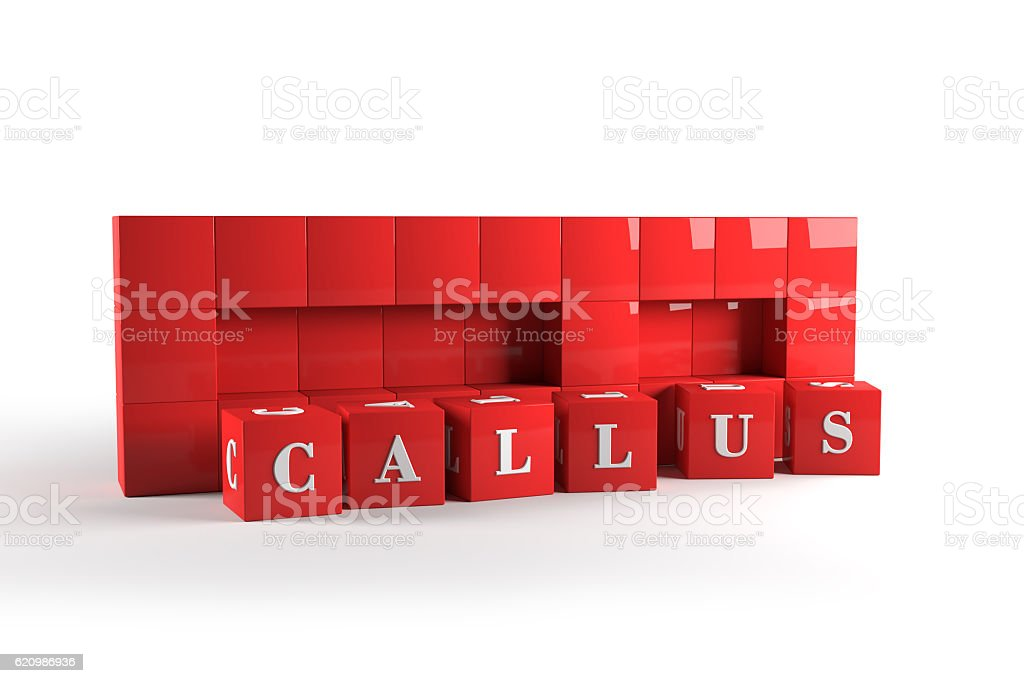 Call us red cubes. 3D rendering. foto royalty-free