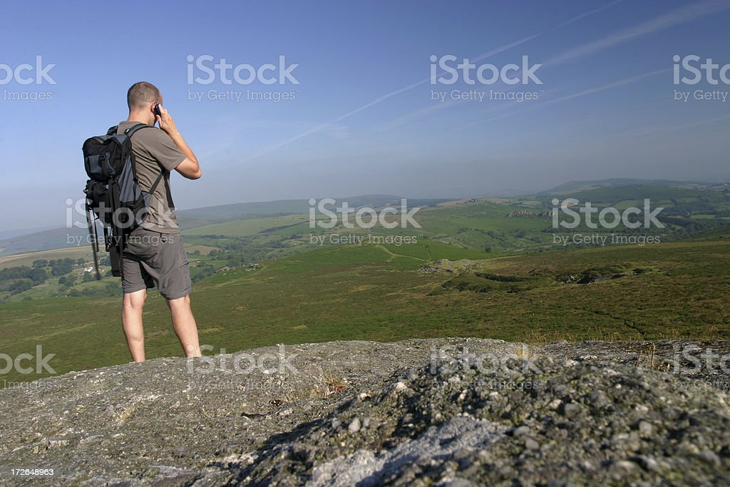 Call with a view royalty-free stock photo
