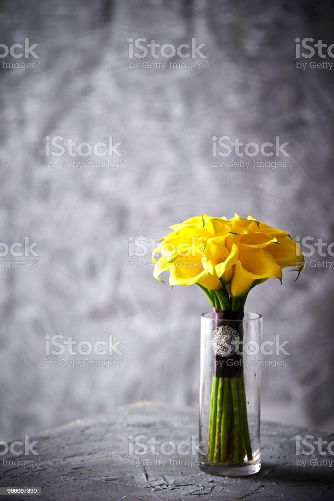 Calla-lily - Royaltyfri Blomkorg - Blomdel Bildbanksbilder