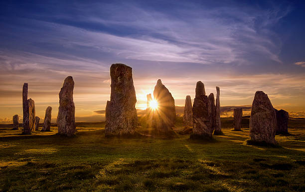 callanish kreis - schottische kultur stock-fotos und bilder