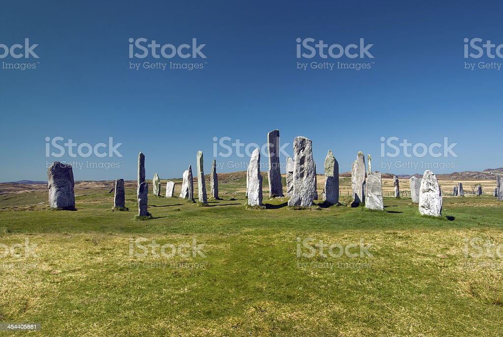 Callanish standing stone circle, Isle of Lewis, Scotland, UK. royalty-free stock photo