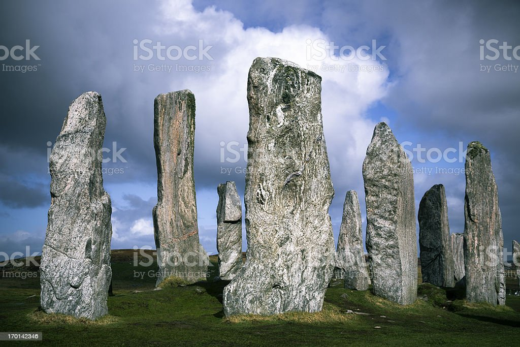 Callanish Standing Stones, Isle of Lewis royalty-free stock photo