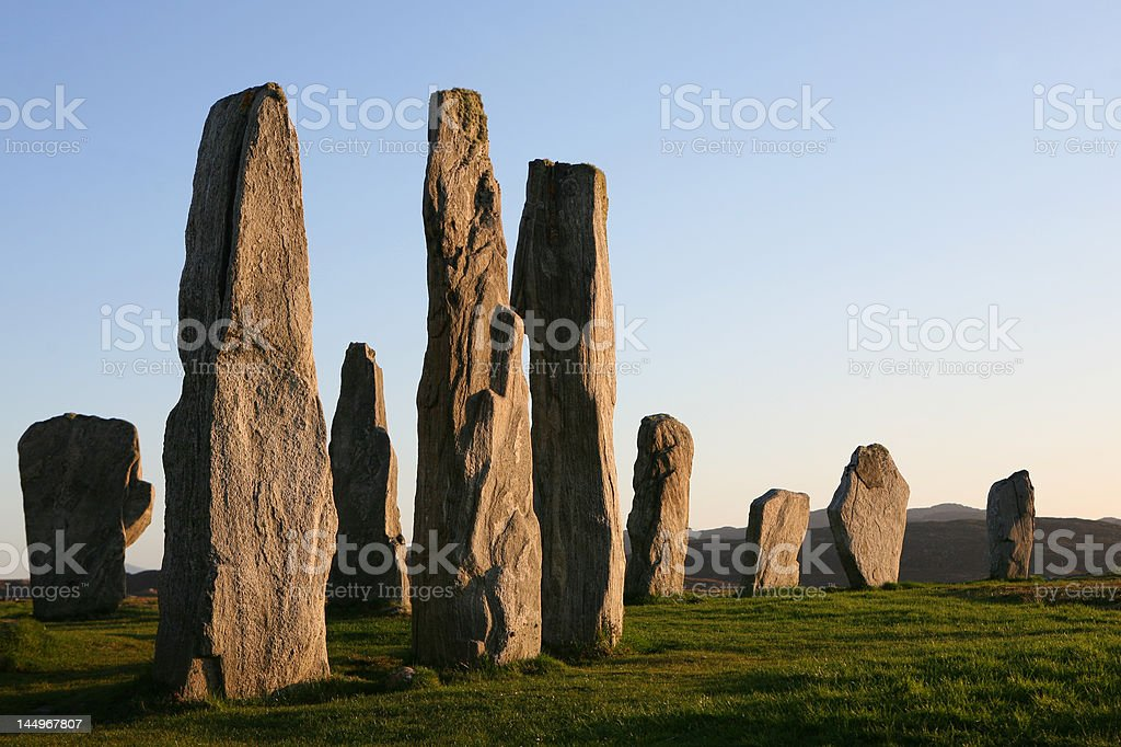 Callanish Standing Stones royalty-free stock photo