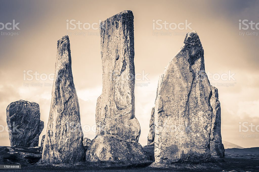 Callanish Standing Stones royalty-free stock photo