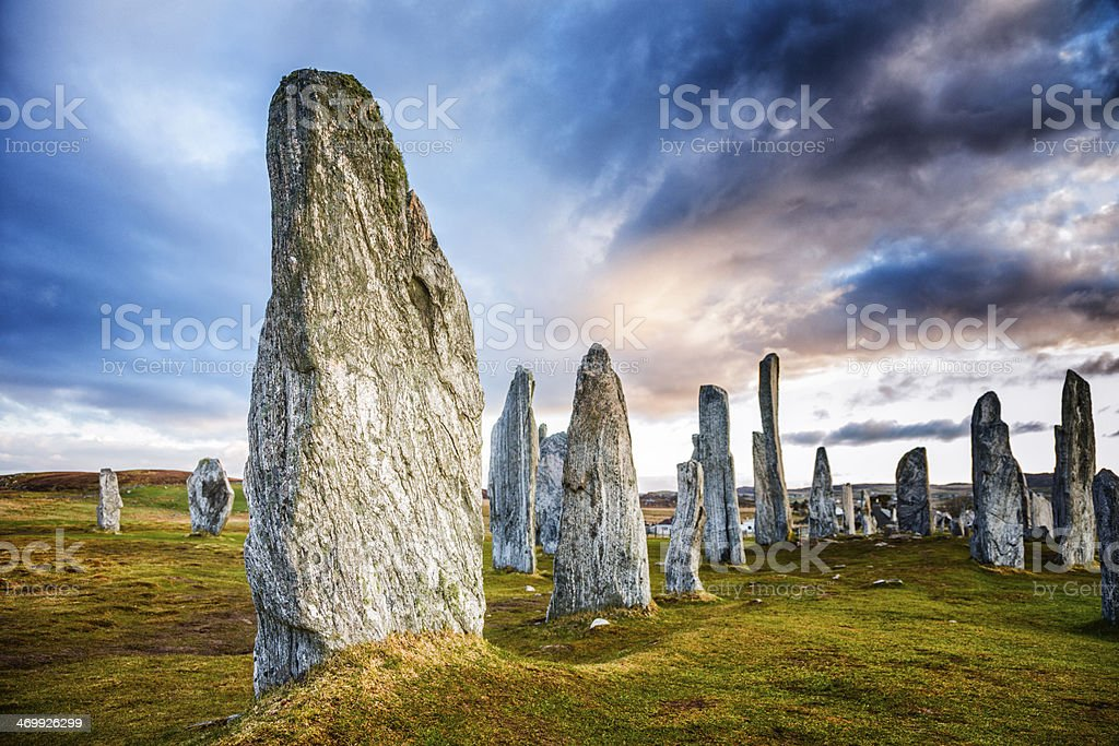Callanish Standing Stones stock photo