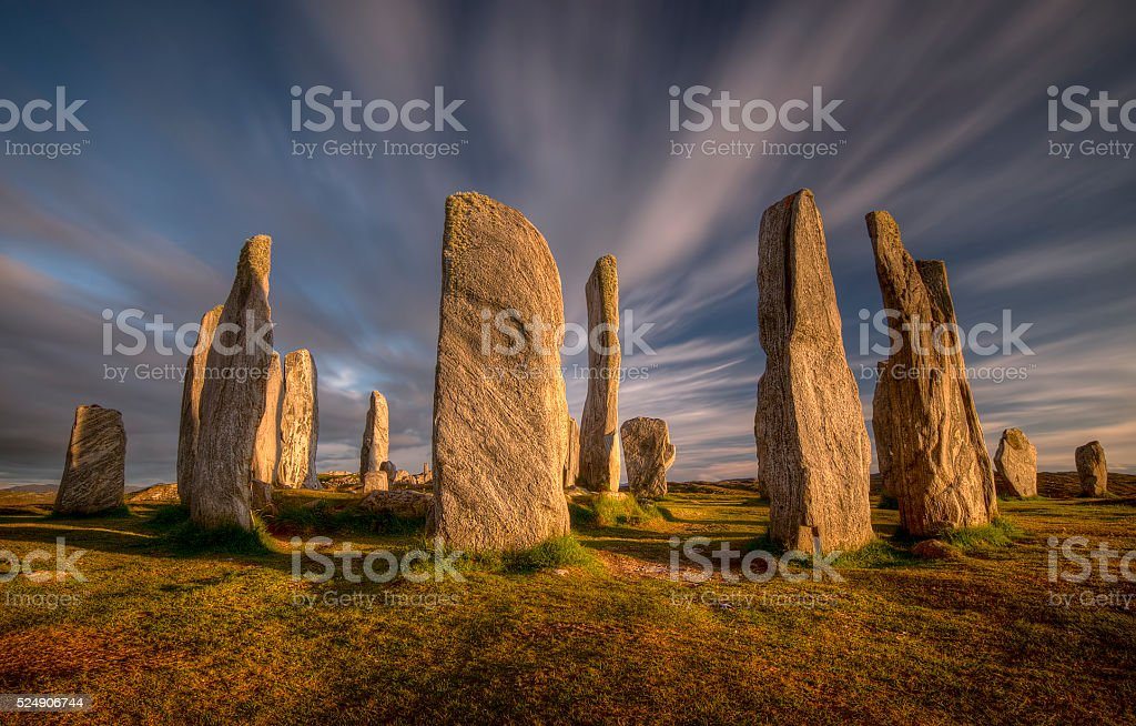 Callanish Stones stock photo