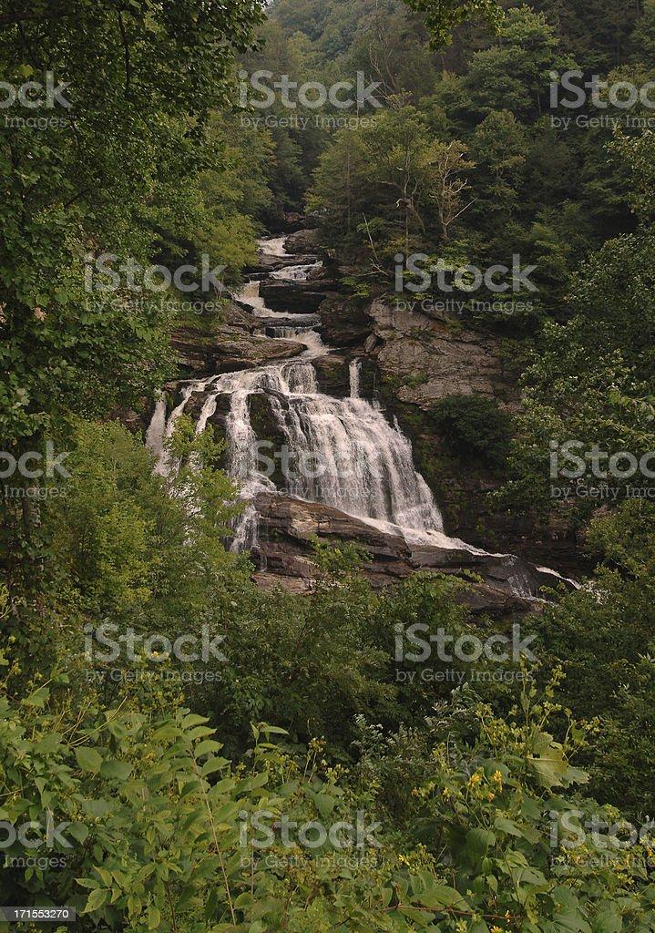 Callasuja Falls North Carolina royalty-free stock photo