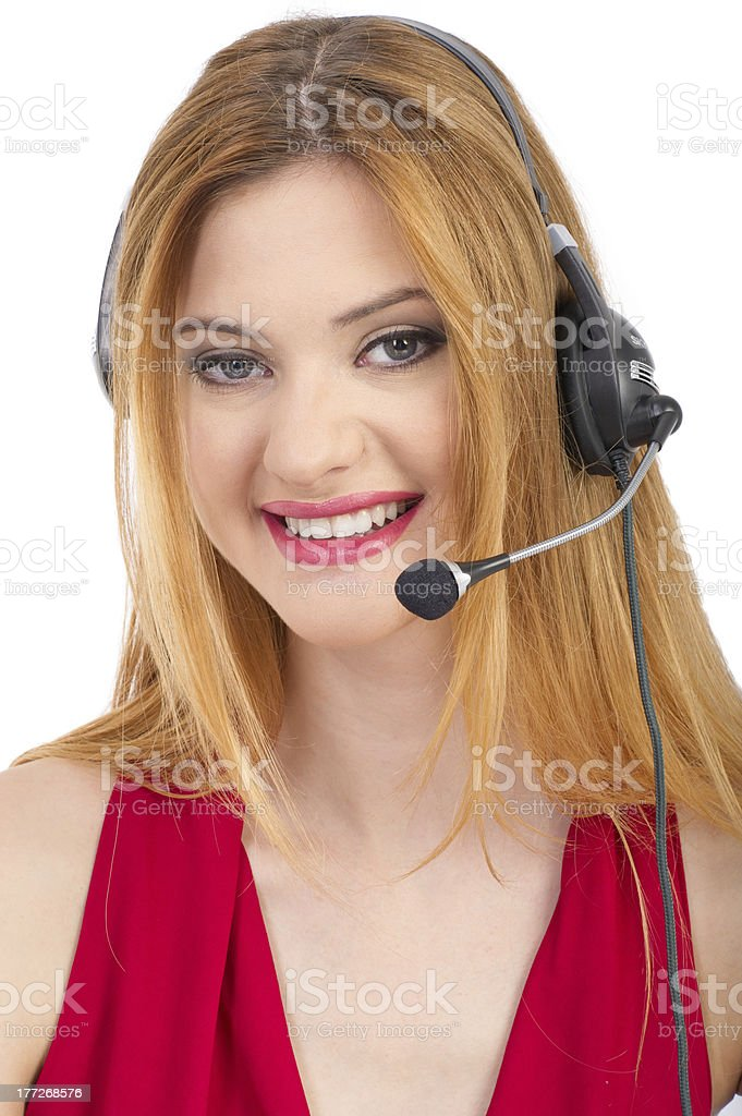 call-center representative royalty-free stock photo