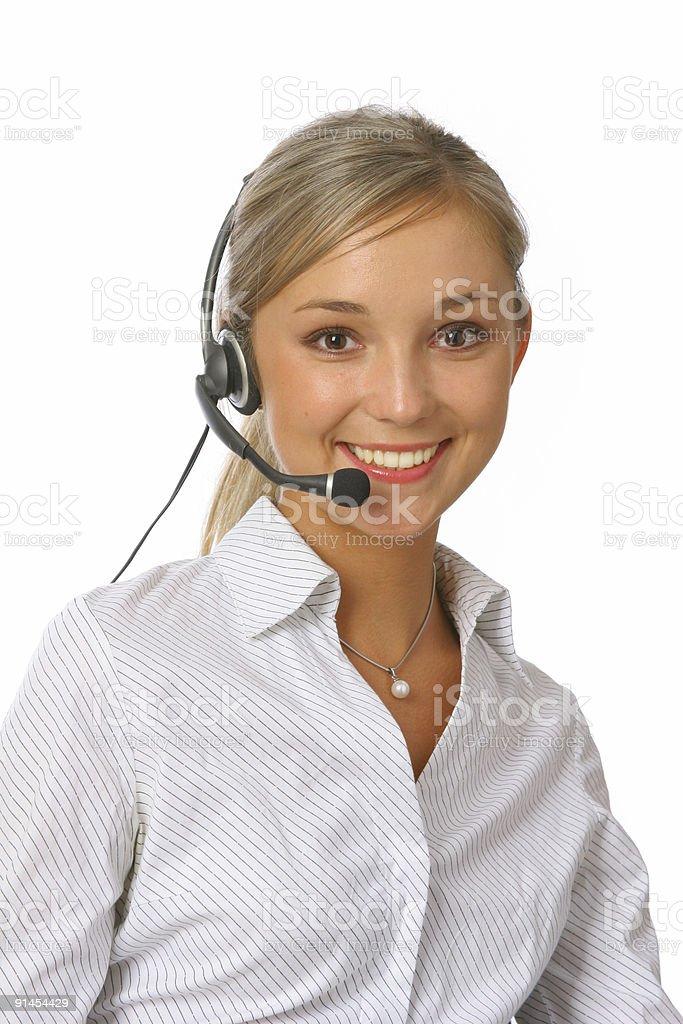 call-center representative  Adult Stock Photo