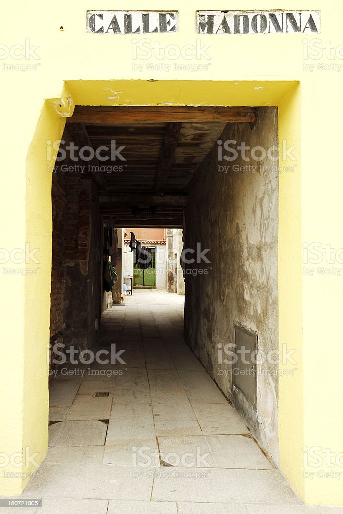 Calle Madonna royalty-free stock photo