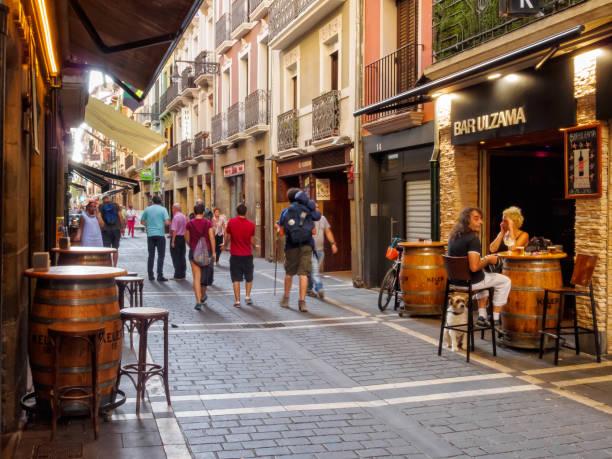 Calle San Nicolas - Pamplona stock photo