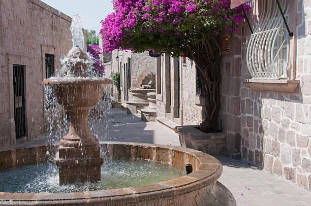 Callejon del Romance (Romance Alley), Morelia (Mexico) stock photo
