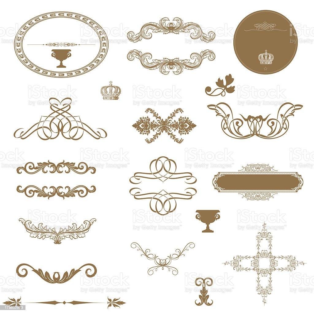 calligraphic   elements royalty-free stock photo