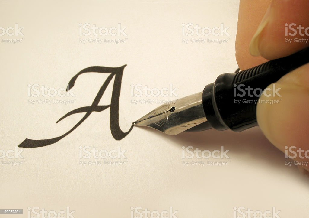 calligraphy 2 stock photo
