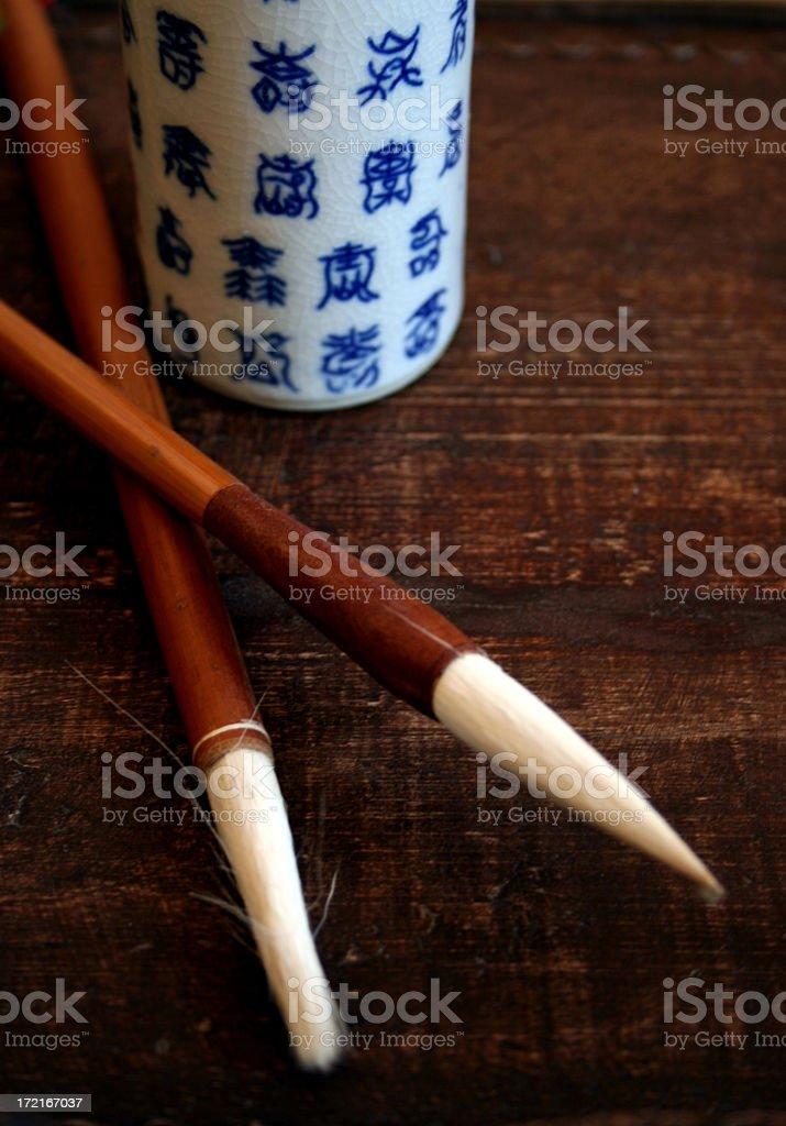 Calligraphy Brushes royalty-free stock photo