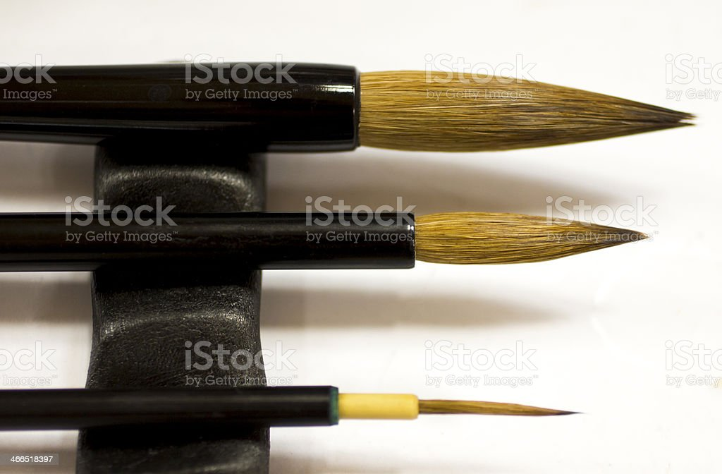 Calligraphy Brushes stock photo