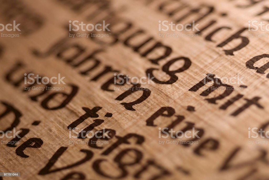 calligraphy detail stock photo