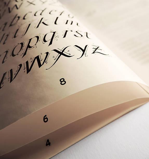 kalligraphieren - foto tusche stock-fotos und bilder