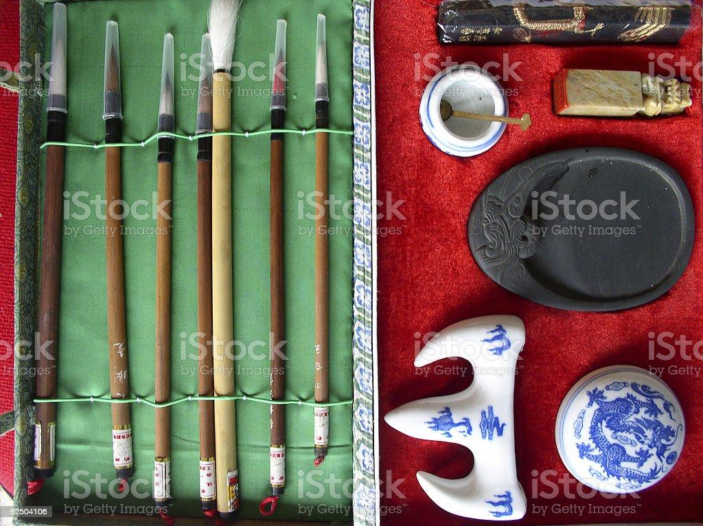 Calligraphy tool kit royalty-free stock photo