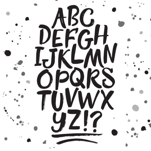 Calligraphy vector font stock photo
