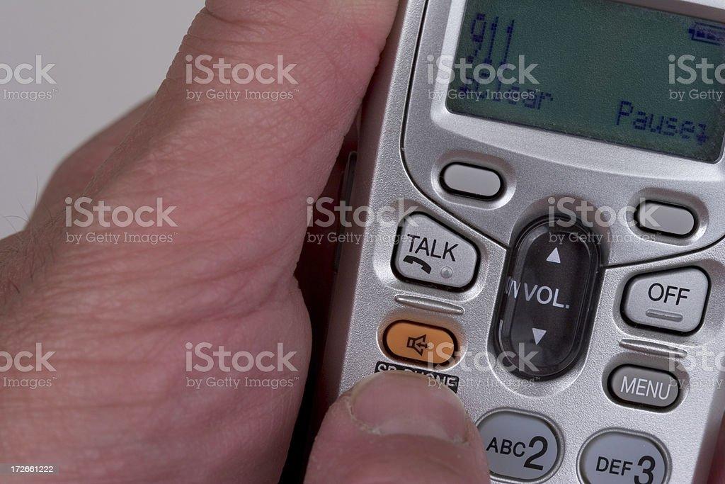 Hands calling 911