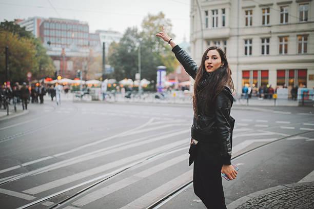 calling a taxi in berlin - hipster unterwäsche stock-fotos und bilder