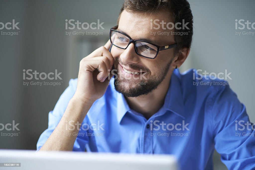 Calling at work royalty-free stock photo