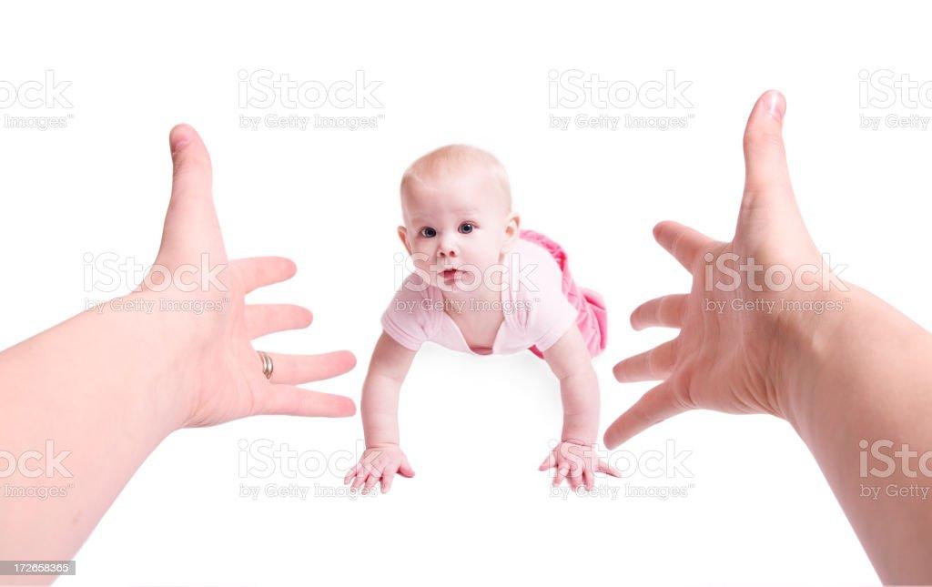 Calling Baby stock photo